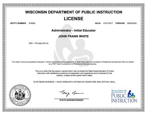 WI DPI 5051 Principal License